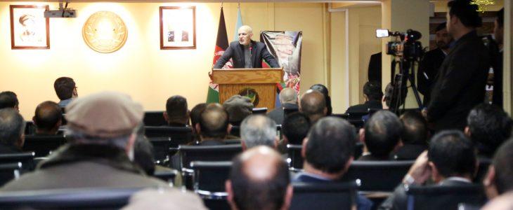 رئیس جمهور غنی: سرمایه گذاری همه جانبه که روی امنیت ملی انجام شده، ادامه خواهد یافت