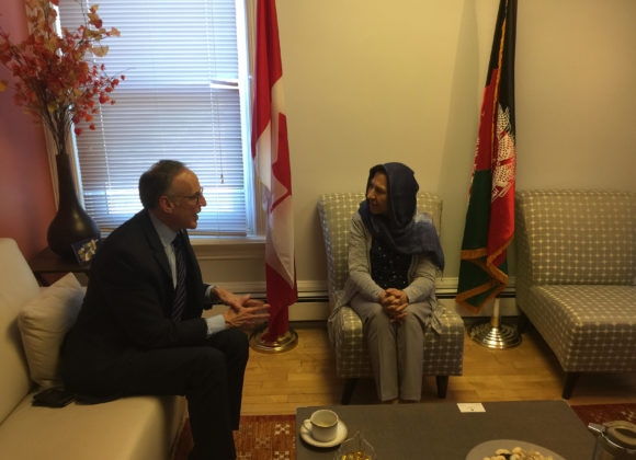AMBASSADOR KAROKHAIL MEETS WITH ROB OLIPHANT, MP FOR DON VALLEY WEST, TORONTO