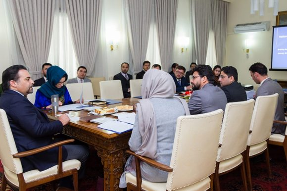 Members of Delegation for Defending Afghanistan's Report to Human Rights Council Convene Meeting