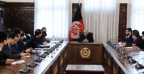 President Ghani and China's State Councilor discussed connectivity, counter-terrorism cooperation