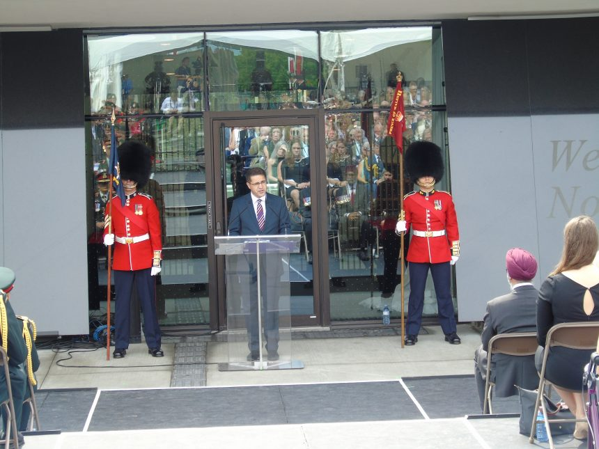 Mr. Fahim Ebrat, the Afghan embassy first secretary, speech on the occasion of rededication ceremony for the Kandahar Cenotaph